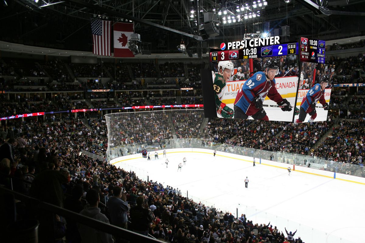 Pepsi Center Gets Digital Overhaul Mile High Hockey