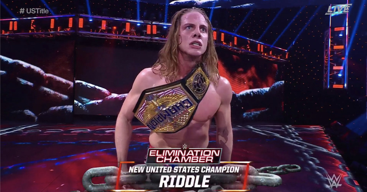 WWE Elimination Chamber 2021 results: Riddle wins U.S. championship