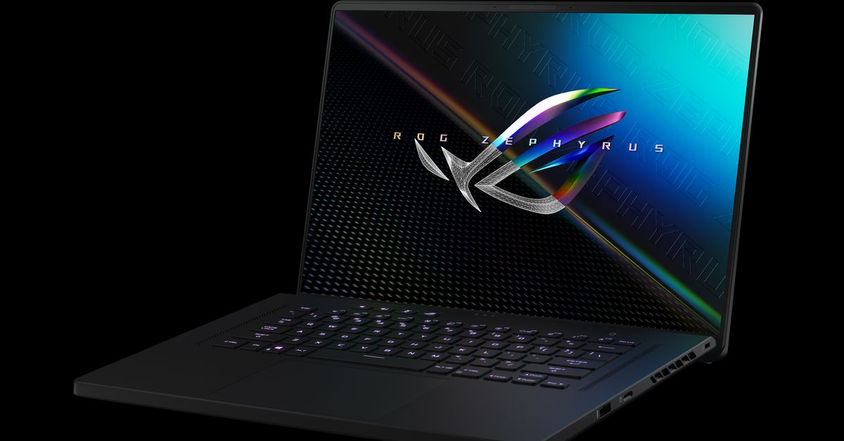 Asus' Zephyrus M16 has a 16:10 screen and Intel Tiger Lake H processor