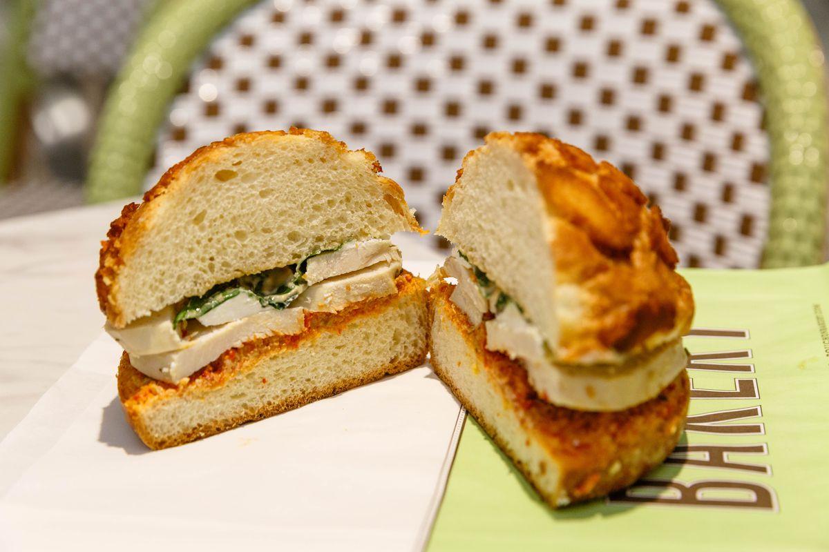 Bouchon Bakery's roasted chicken sandwich
