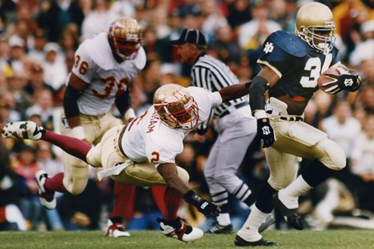 Florida State Vs. Notre Dame, The Historical: The 1993 Rematch ...
