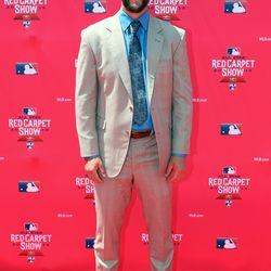 Clayton Kershaw at the MLB Red Carpet Show.