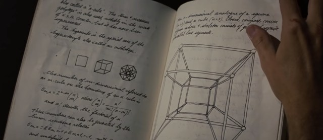 Howard Stark's notes and possible Tesseract drawing in Iron Man 2.