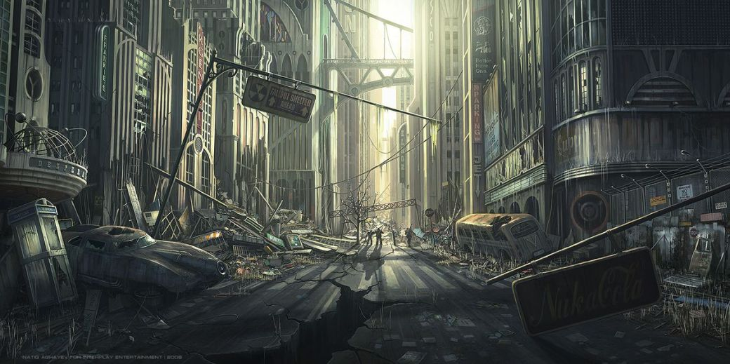 Early Project V13 concept art, cityscape