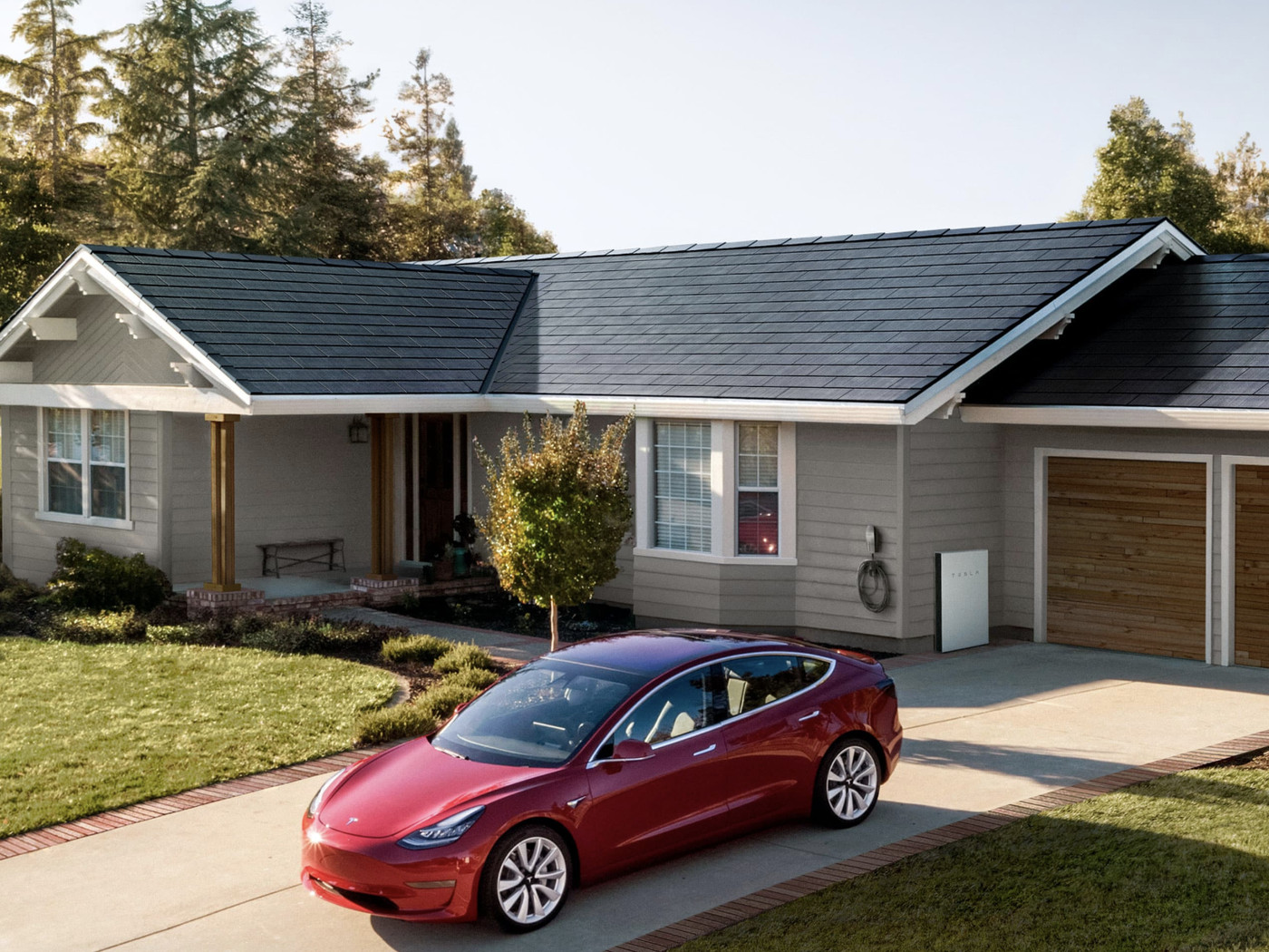 tesla s new solar glass roof tiles are