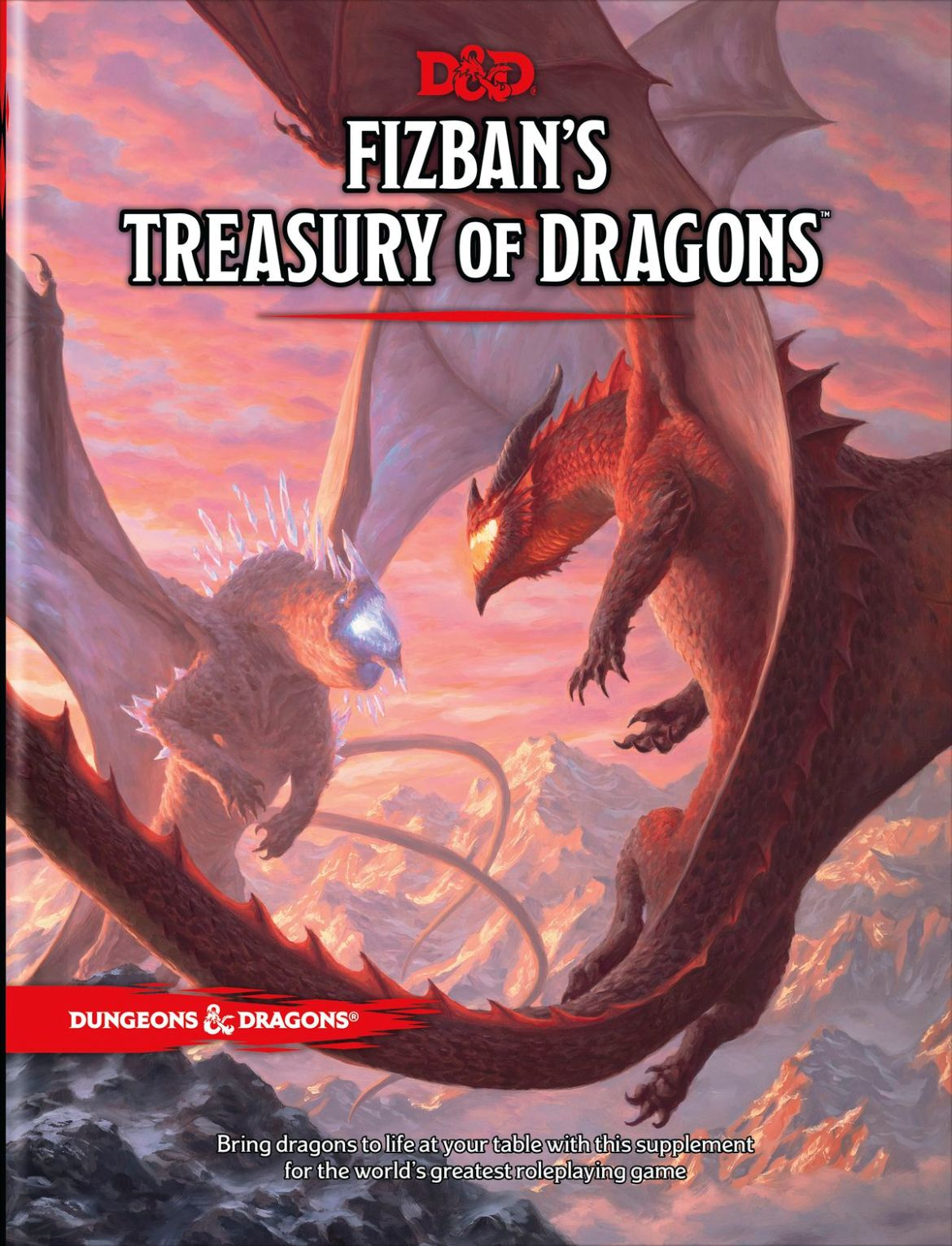 The primary cover of the D&D sourcebook Fizban's Treasury of Dragons