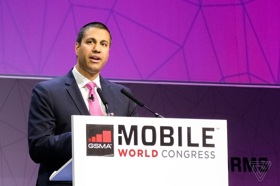 Chairmain Ajit Pai and the FCC's three commissioners would continue working during a furlough.