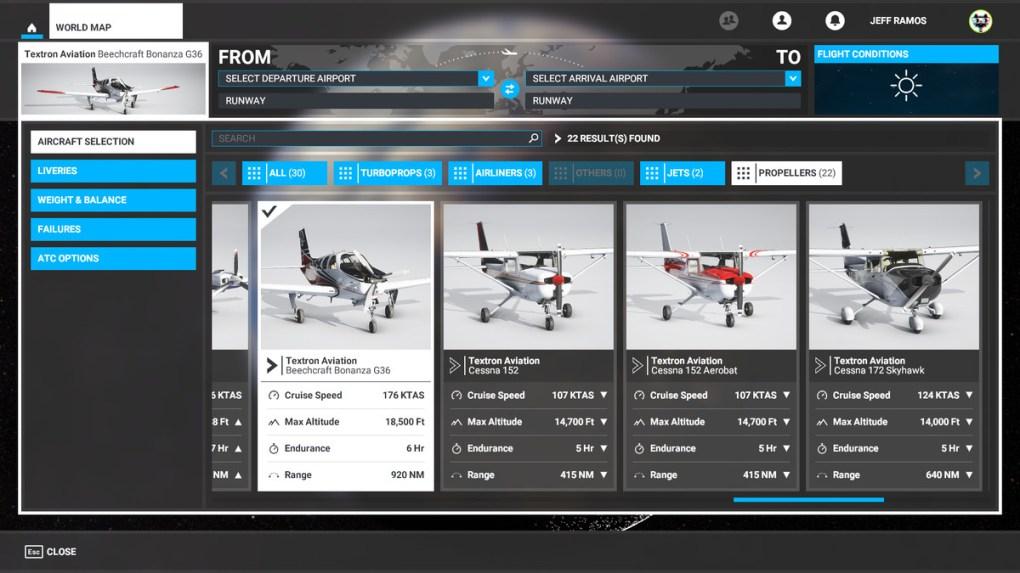 Máy bay cánh quạt trong Microsoft Flight Simulator