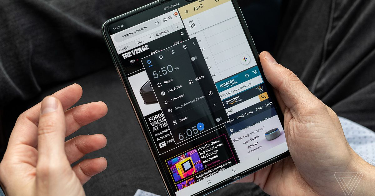 Samsung's original Galaxy Fold adds some of the Z Fold 2's smartest features for free