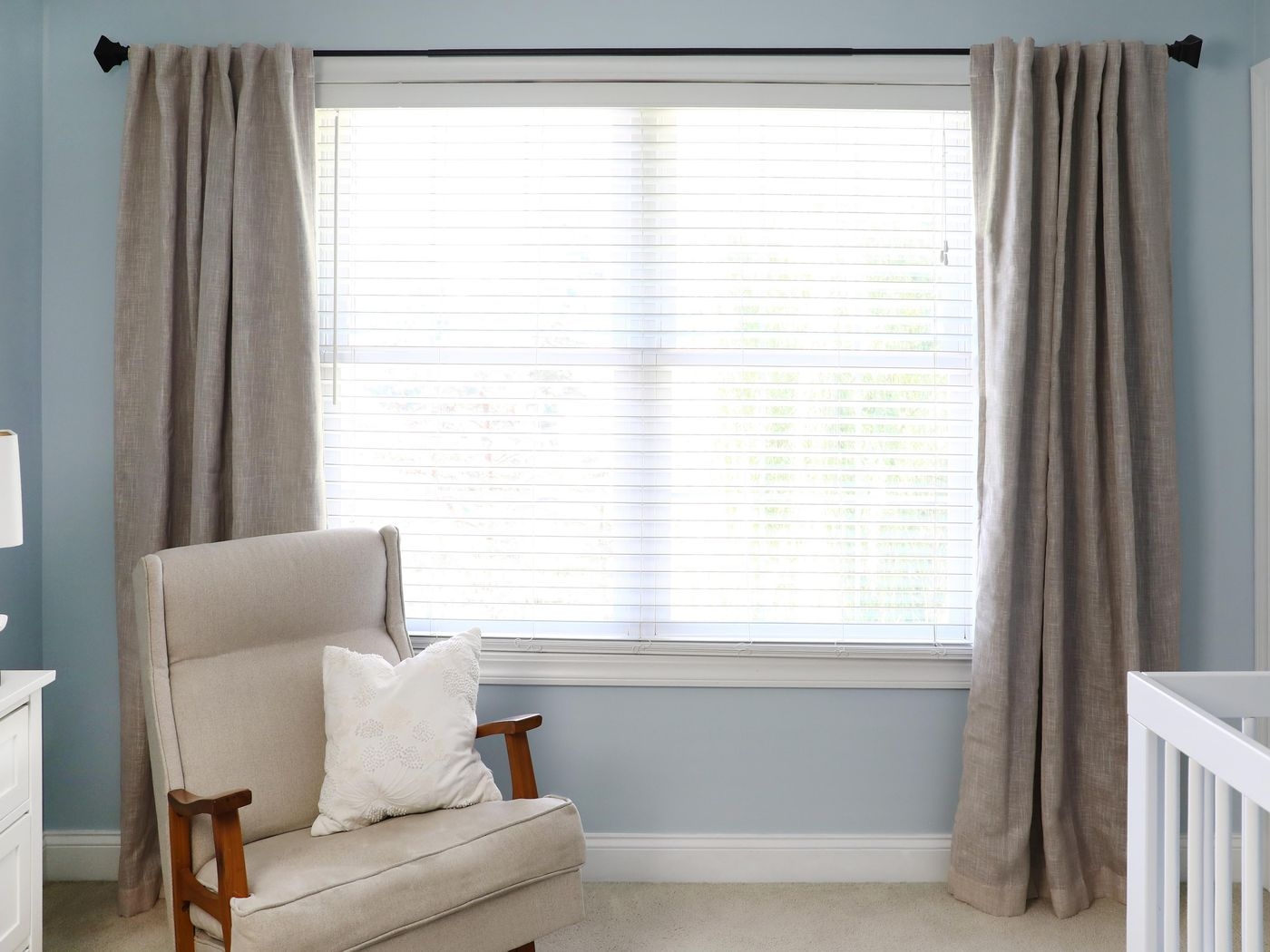 how to hang a curtain rod this old house
