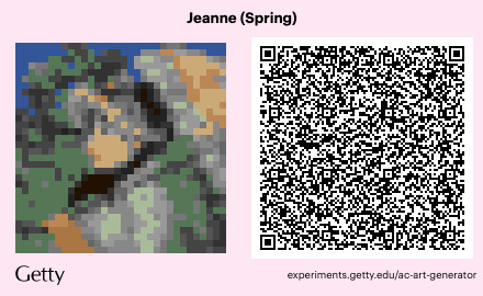 """Édouard Manet's painting """"Jeanne"""" imported as an Animal Crossing pattern"""