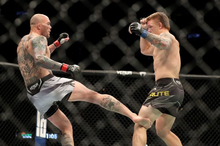 Despite Smith's wrestling looking leaky once again, Lionheart produced a stunning leg kick TKO to defeat Jimmy Crute   UFC Fight Night 192: Smith vs Spann