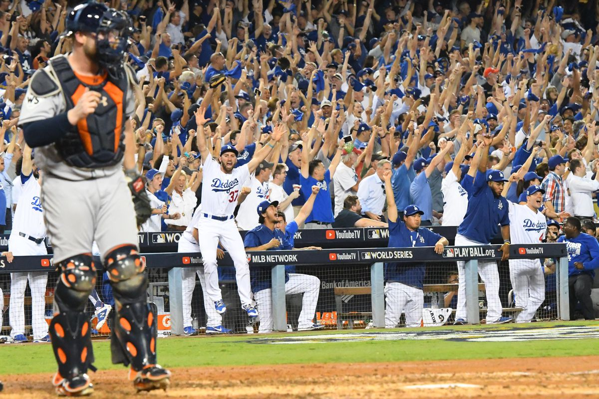 Image result for dodgers world series win