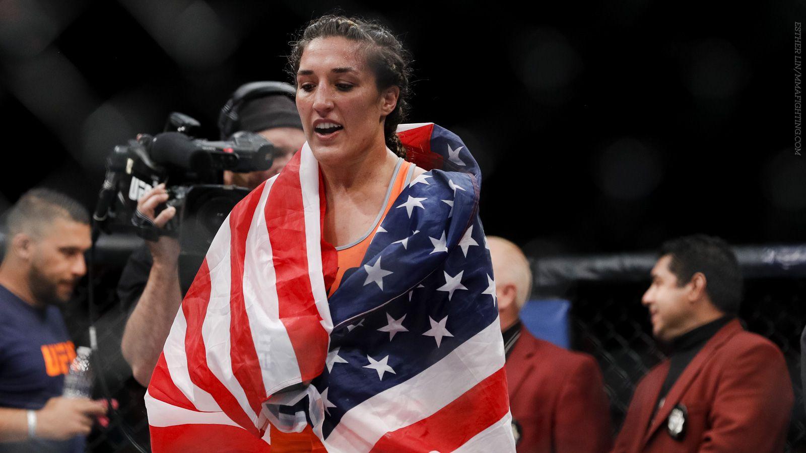Tatiana Suarez Viviane Pereira Meet At UFC Fight Night