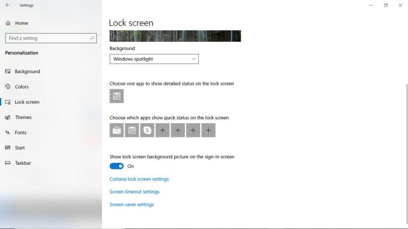 Opzioni di blocco schermo app