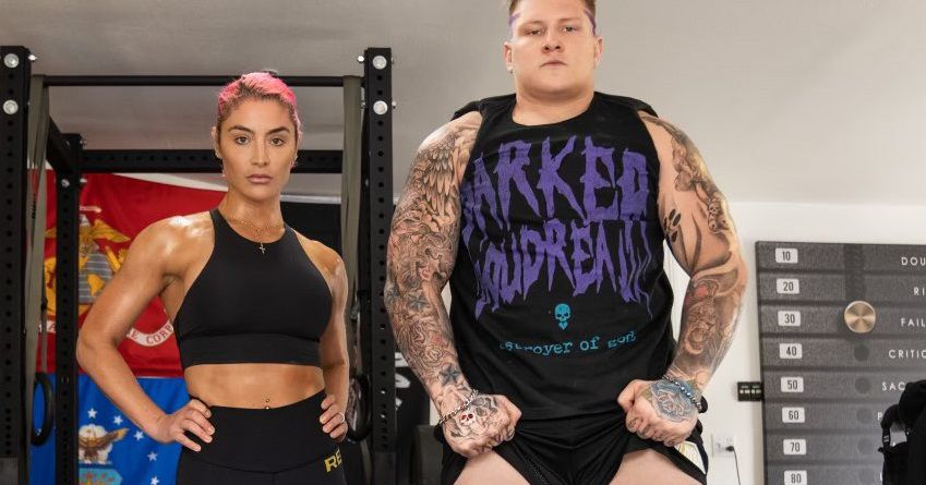 Eva Marie and the Brock Lesnar clone are at it again