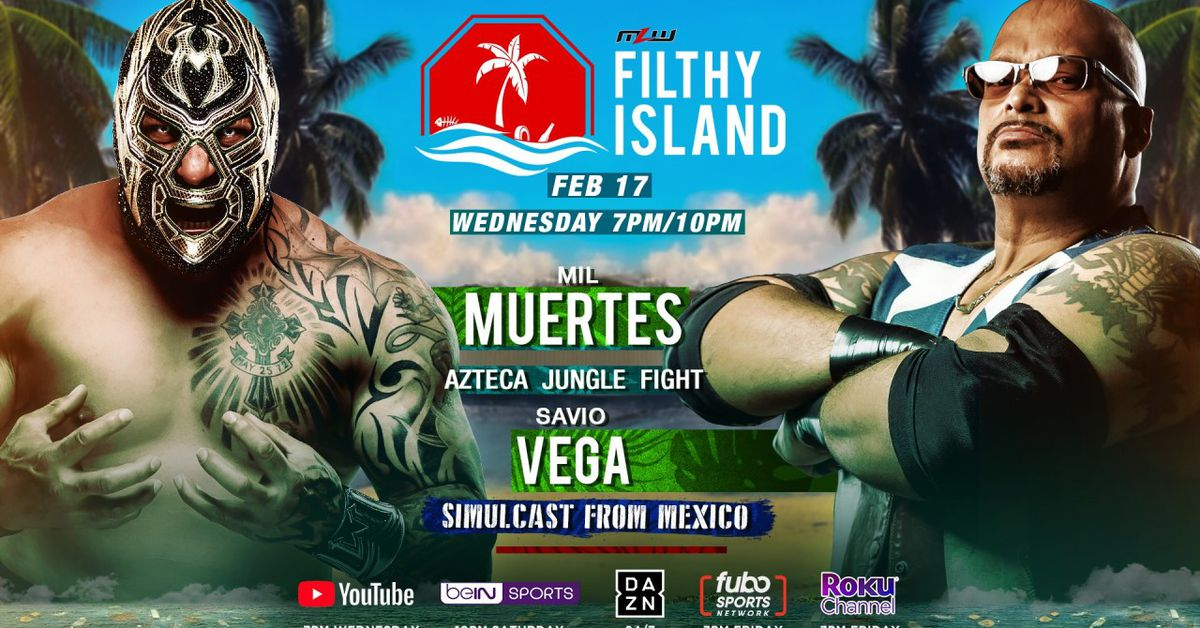 MLW Roundup: King Mo/Low Ki on Filthy Island, Mil Muertes jungle fight