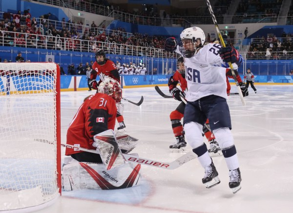 United States vs Canada Women's Olympic Gold Medal Hockey ...