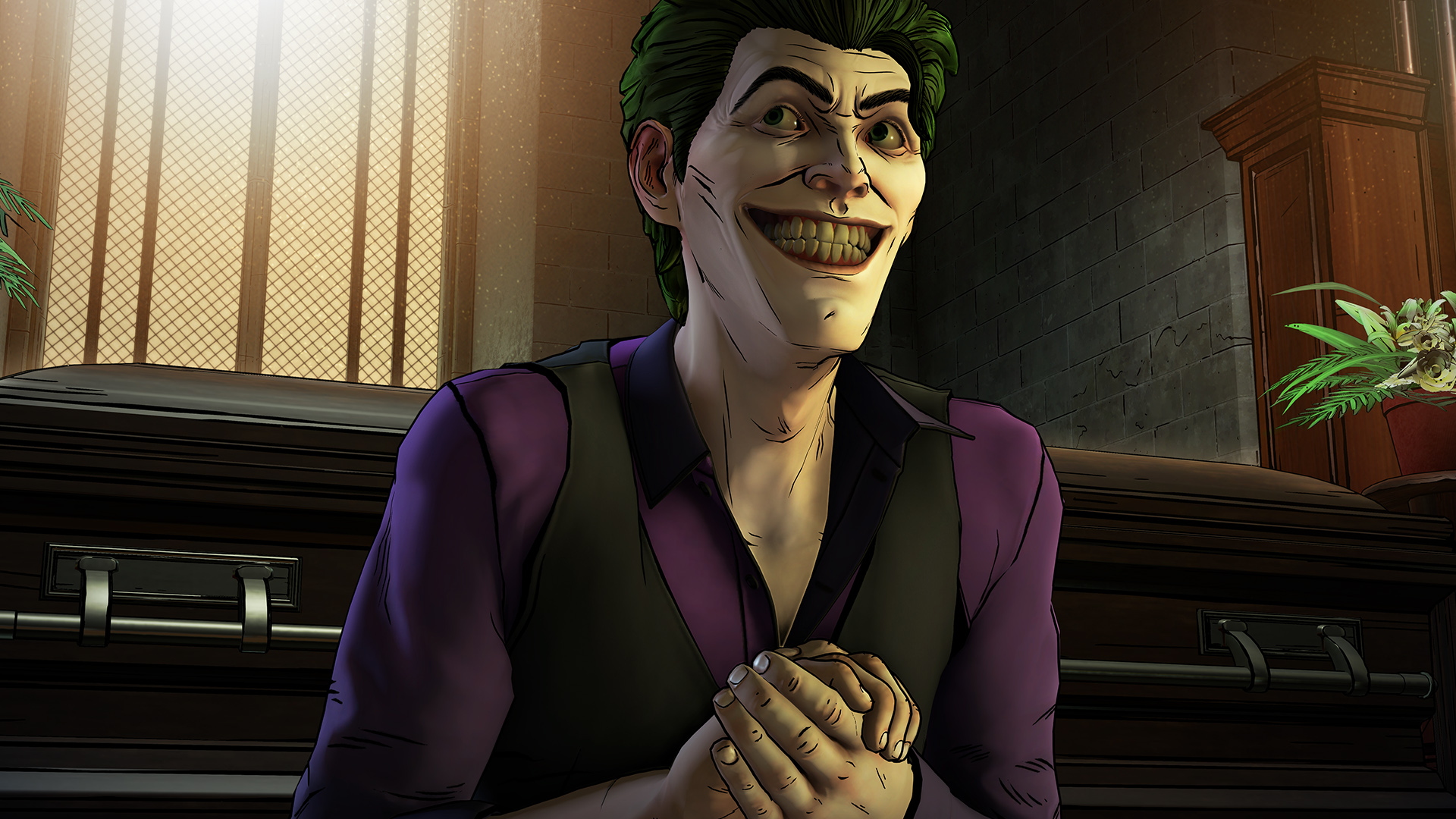The pale-face and green-haired John Doe, in Batman: The Enemy Within.