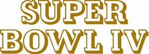 SB 4 logo - Two championships in one season: 1969 Kansas City Chiefs
