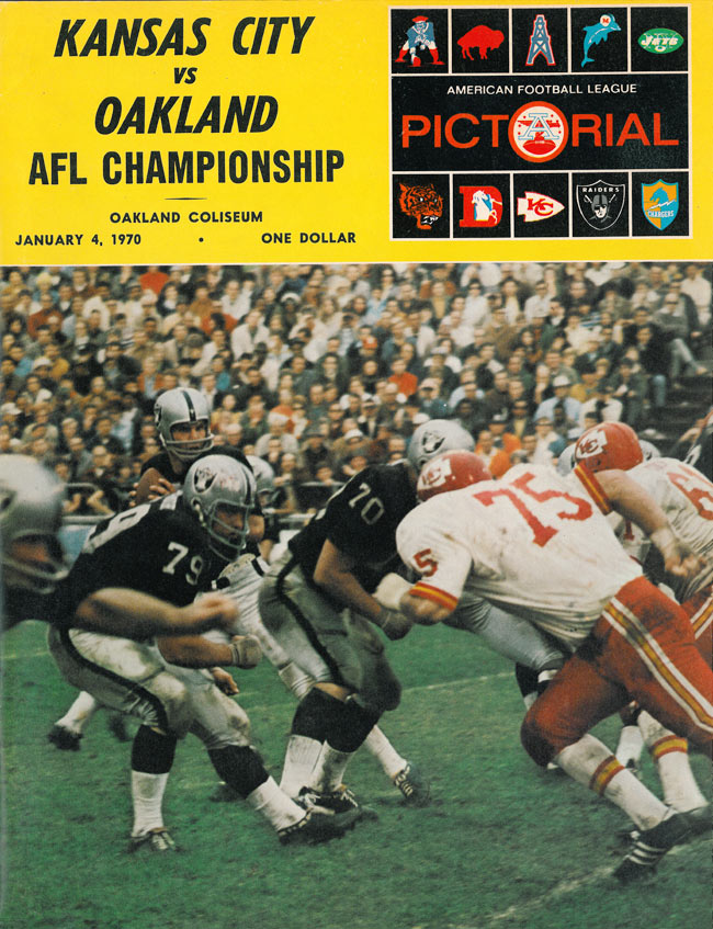 1969AFLChampionshipProgramCover - Two championships in one season: 1969 Kansas City Chiefs