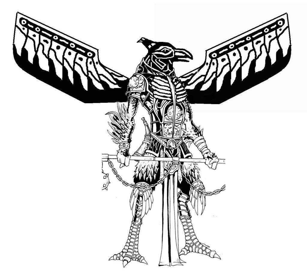Thunderbird-man tattoo