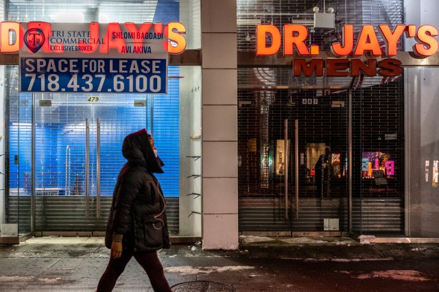 Signs us struggling retail in Downtown Brooklyn, Dec. 17, 2020.