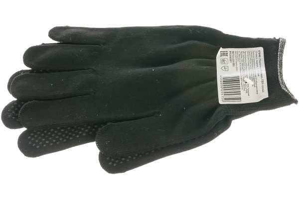 Перчатки Россия нейлон, ПВХ точка, 13 класс, чёрные, XL ...