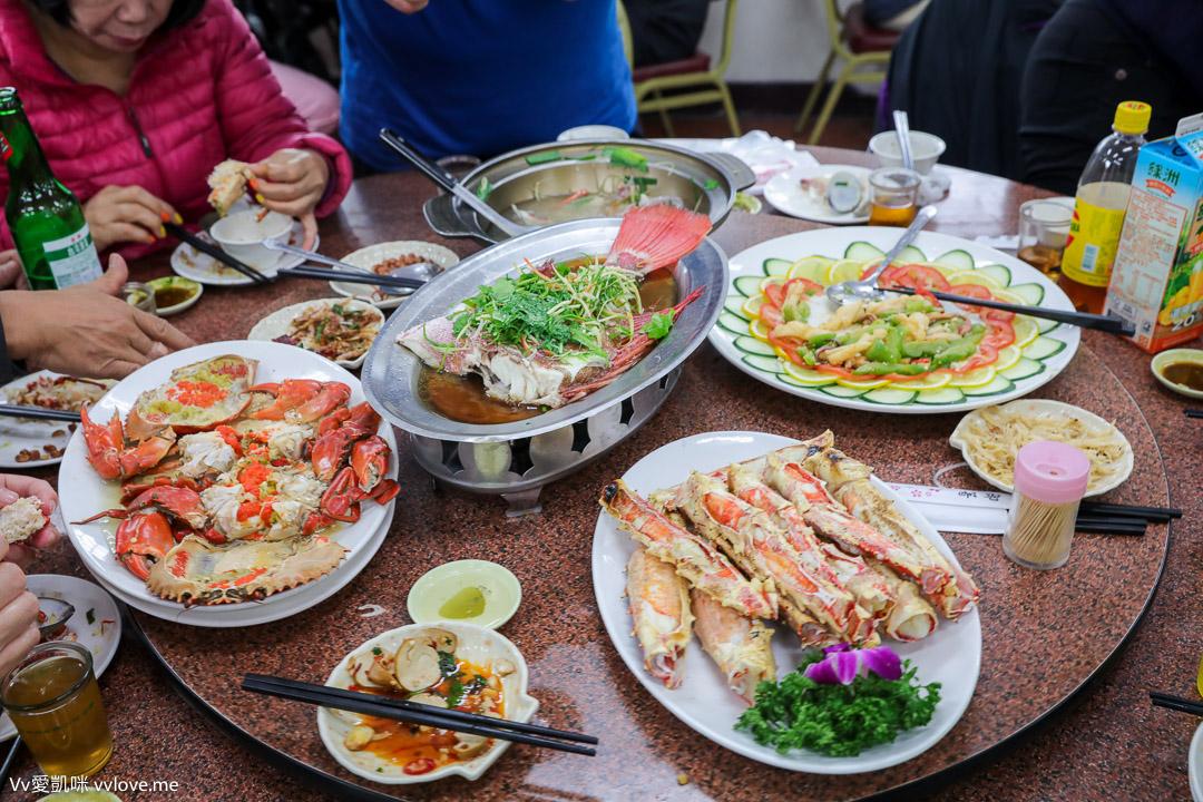 桃園大園美食-竹圍漁港賜福船長的店海鮮餐廳食記-一桌六千八千與帝王蟹海鮮料理