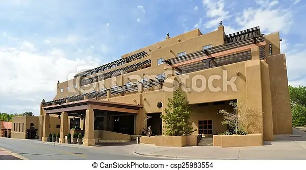Adobe Architecture Style House In Sata Fe New Mexico House In Adobe Architecture Typical For Native New Mexico In The Old Canstock