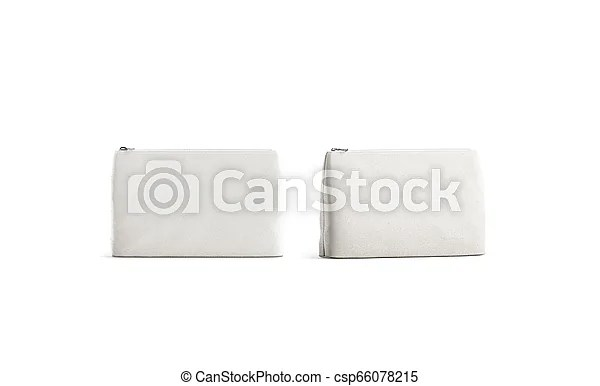 Get free money towards your purchases with creative market credits. Blank Canvas Beauty Bag Mockup Isolated Front And Half View 3d Rendering Empty Eco Purse Mock Up Clear Female Pouch With Canstock