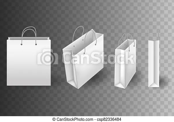 Cd case mockup template bundle disc. Shopping Bag Mockups Set Of White Shopping Bags Isolated On Transparent Background Close Up Shopping Bag Vector Mockups Canstock