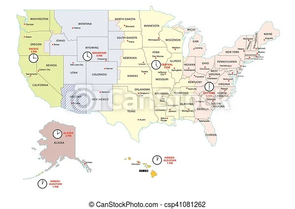 It's becoming the essential competitive edge: United States Time Zones Map Time Zone Map Of The United States Of America Canstock