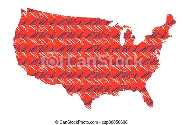 Us visa & immigration us visa & immigration. Usa Text Map Background An Outline Map Of The United States Of America With Initials Text Inset Canstock