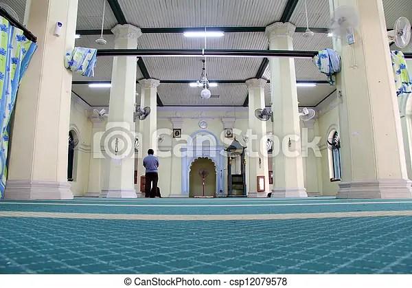 Gorgetown, внутри, мечеть, penang, малайзия.   CanStock