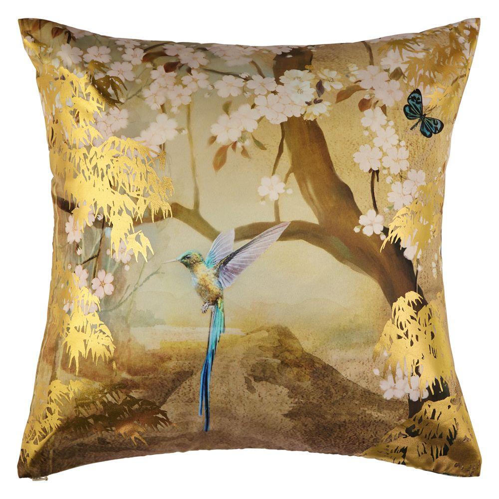 Suki Gold Foil Cushion By Arthouse Gold Wallpaper Direct