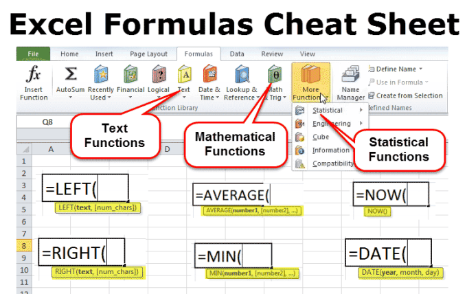 How To Use Excel Formula Sheet   Astar Tutorial