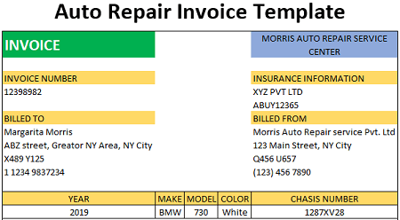Highways last a lot longer than they once did. Auto Repair Invoice Template Free Download Ods Excel Pdf Csv