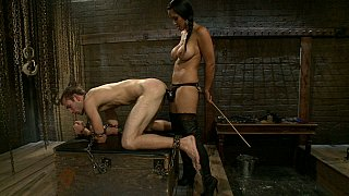 Mistress and her male slave to fuck thumb