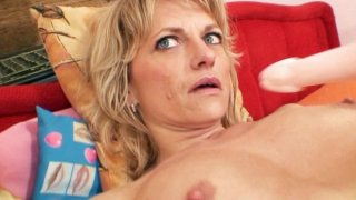 Gorgeous blond amateur milf first time video thumb