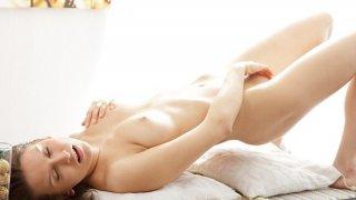 Artistic porn video shows a hottie masturbating thumb