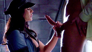 Kendra Lust sucking hard dick in an empty warehouse thumb