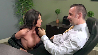 Busty secretary Jaclyn Taylor gets her throat_fucked by_her boss thumb