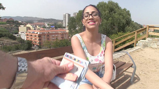 Julia De Lucia gets paid to flash her perfect tits in public thumb