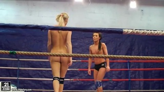 Topless teen chicks in a nude fight club video thumb