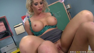 Busty blonde teacher with sexy tattoos Brooke Haven fucks her student Seth Gamble thumb