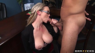 Dreamboat Abbey Brooks fools with a handsome dude and his dick thumb