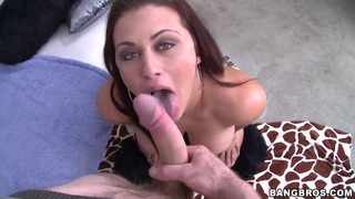 Awesome chick Carmen Ross boasts of her enormous huge ass in front of her mate thumb