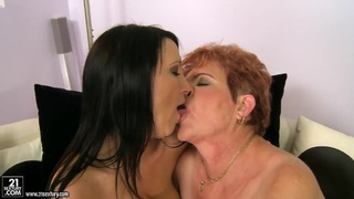 Chanel & Lady Bella lick & play with strap on thumb