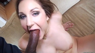 Kiera King spreads her lips round this hard dick thumb